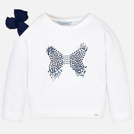 Mayoral 3401-80 Bluza dziewczęca kolor biały