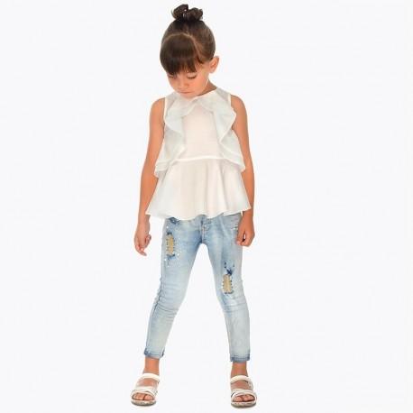 Mayoral 3503-45 Spodnie jeans dziewczęce kolor niebieski