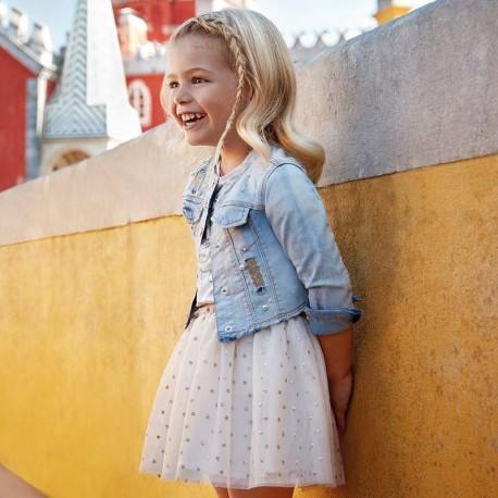 Mayoral 3902-67 Spódnica dziewczęca kolor Złoty