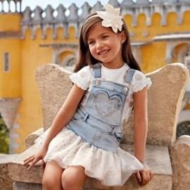 Mayoral 3905-34 Spódniczka ogrodniczka dziewczęca kolor niebieski