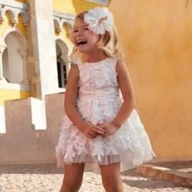 Mayoral 3907-91 Sukienka dziewczęca kolor Krem