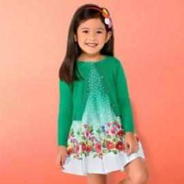 Mayoral 3932-14 Sukienka dla dziewczynki kolor zielony