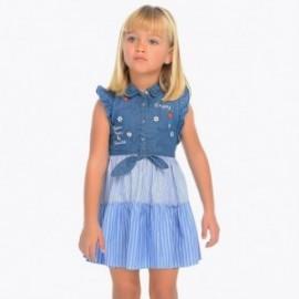 Mayoral 3937-5 Sukienka jeans dziewczęca kolor niebieski