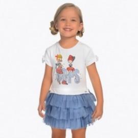 Mayoral 3939-29 Sukienka dla dziewczynki kolor niebieski