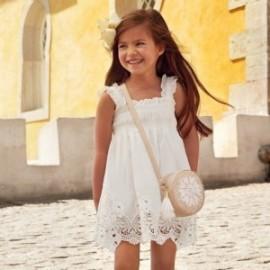 Mayoral 3940-57 Sukienka dziewczęca kolor krem