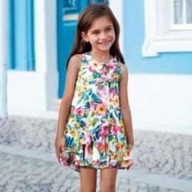 Mayoral 3941-27 Sukienka dziecięca kolor zielony