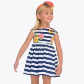 Mayoral 3942-37 Sukienka w paski dziewczęca kolor granat