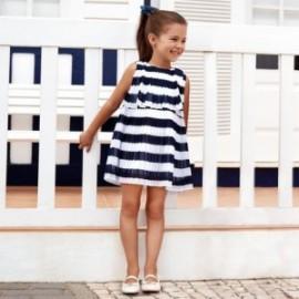 Mayoral 3944-65 Sukienka dziewczęca kolor granat