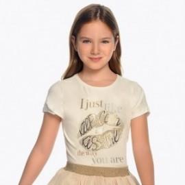 Mayoral 6012-74 Koszulka dziewczęca kolor krem
