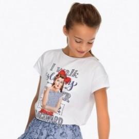 Mayoral 6020-58 Koszulka dziewczęca kolor biały