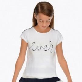 Mayoral 6022-67 Koszulka dziewczęca kolor biały
