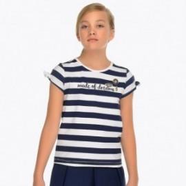 Mayoral 6024-72 Koszulka dziewczęca kolor granat
