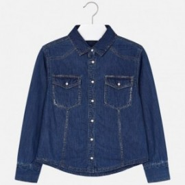 Mayoral 6107-5 Bluzka dziewczęca kolor jeans