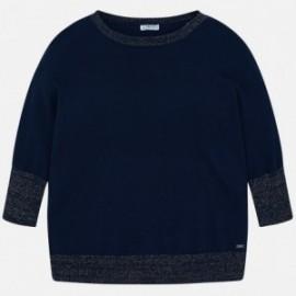 Mayoral 6301-62 Sweter dziewczęcy kolor granat