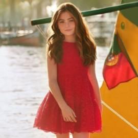 Mayoral 6912-69 Sukienka dziewczęca kolor czerwony