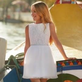 Mayoral 6915-10 Sukienka dziewczęca kolor biały