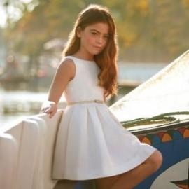 Mayoral 6922-51 Sukienka dziewczęca kolor krem