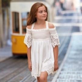 Mayoral 6935-80 Sukienka dziewczęca kolor krem