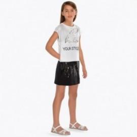 Mayoral 6939-78 Sukienka dziewczęca kolor biały/czarny