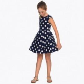 Mayoral 6943-29 Sukienka dziewczęca kolor granat