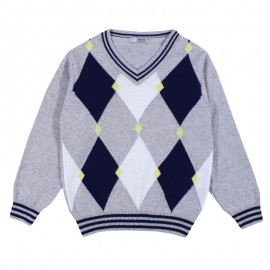 Dr.Kid DK566 sweterek chłopięcy kolor popiel