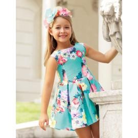 Abel & Lula 5032-9 Sukienka dziewczęca kolor turkus