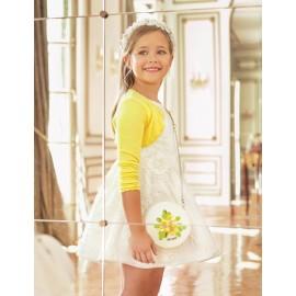 Abel & Lula 5042-1 Sukienka dziewczęca kolor biały