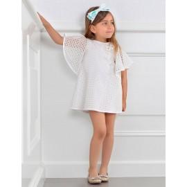 Abel & Lula 5046-1 Sukienka dziewczęca kolor biały
