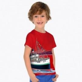 Mayoral 3024-74 Koszulka chłopięca kolor czerwony