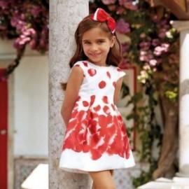 Mayoral 3918-37 Sukienka dziewczęca kolor czerwony