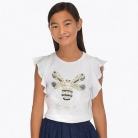Mayoral 6013-32 Koszulka dziewczęca kolor biały
