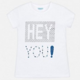Mayoral 6016-41 Koszulka dziewczęca kolor biały