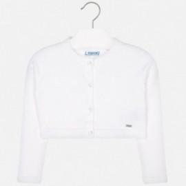 Mayoral 321-26 Sweterek dziewczęcy kolor biały