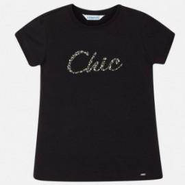 Mayoral 854-34 Koszulka dziewczęca kolor czarny