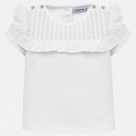 Mayoral 1013-49 Koszulka dziewczęca kolor biały