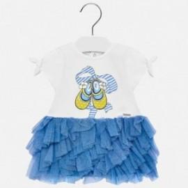 Mayoral 1942-30 Sukienka dziewczęca kolor niebieski