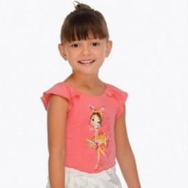 Mayoral 3001-19 Koszulka dziewczęca kolor geranium