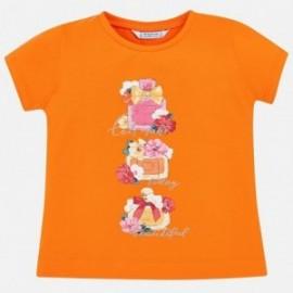 Mayoral 3015-61 Koszulka dziewczęca kolor mandarynka