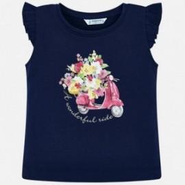 Mayoral 3023-50 Koszulka dziewczęca kolor granat