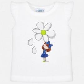 Mayoral 3023-49 Koszulka dziewczęca kolor biały