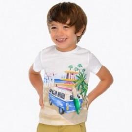 Mayoral 3035-71 Koszulka chłopięca kolor biały