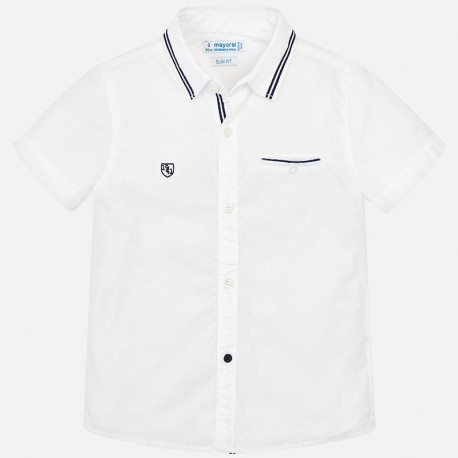 Mayoral 3129-68 Koszula chłopięca gładka kolor biały