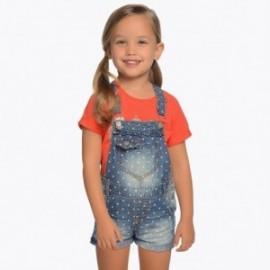 Mayoral 3601-5 Krótkie ogrodniczki dziewczęce kolor jeans