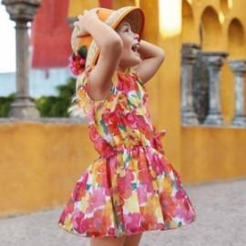 Mayoral 3929-45 Sukienka dziewczęca kolor koralowy