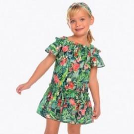 Mayoral 3952-33 Sukienka dziewczęca kolor zieleń