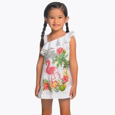 Mayoral 3953-27 Sukienka dziewczęca kolor biały