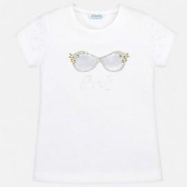 Mayoral 6003-14 Koszulka dziewczęca kolor biały