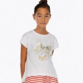 Mayoral 6004-10 Koszulka dziewczęca kolor Biały