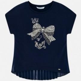 Mayoral 6004-15 Koszulka dziewczęca kolor granat