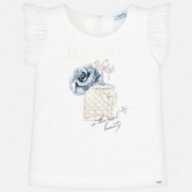 Mayoral 6028-92 Koszulka dziewczęca kolor krem